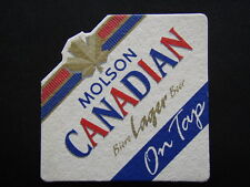 MOLSON CANADIAN BIERE LAGER BEER ON TAP NO PRESERVATIVES COASTER