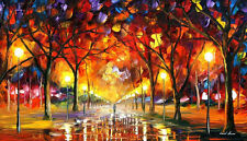 """The Road Of Memories  —  Oil Painting On Canvas By Leonid Afremov. Size: 40""""x24"""""""