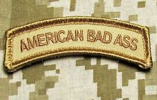 AMERICAN BAD ASS TAB US ARMY USA DESERT VELCRO® BRAND FASTENER MORALE PATCH
