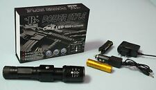 SWAT Polizia CREE 5000 Lumen LED Torcia Zoom incl. BATTERIA POWER 1x 4 colori