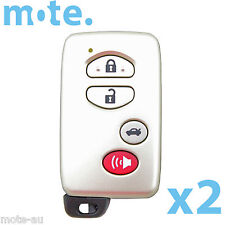 2 x Toyota 4 Button Remote Key Shell/Case/Enclosure Aurion Sportivo Camry Grande