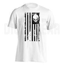 American Flag Skull Punisher Legend Sniper Military USA Army Shirt S M L XL 2XL