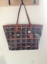Ralph Lauren Tote Gallaway Bag with Brown Leather Trim #122