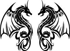 Tribal Dragon Car Camper Van Truck Window Stickers LSD23 medium