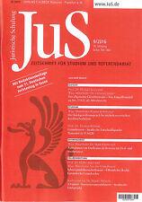 JuS Juristische Schulung 09/2016, Zeitschrift für Studium und Referendariat