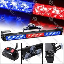"14"" LED Red Blue Light Emergency Warning Strobe Flashing Bar Hazard Security"