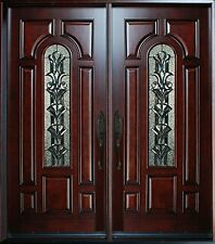 "Exterior  Front Entry Double House Wood Door M280A 30""x 80""X2 Left Hand Swing In"