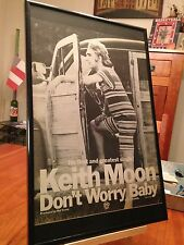 """1 BIG 11X17 FRAMED KEITH MOON (THE WHO) SOLO LP CD """"PROMO AD"""" - choose from 2!"""