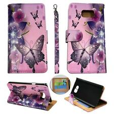 For Samsung Galaxy S6 Edg Ck Wallet Pink Flower Butterfly Cover Case Un Leather