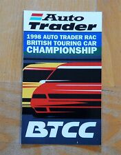 1998 Auto Trader RAC British Touring Car Championship BTCC Race Sticker / Decal