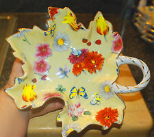 Mayfair Collection By Jay Sunshine Yellow Leaf Flowers & Butterfly's & Ladybugs