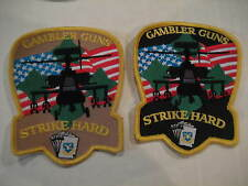 NEW ARMY 4th AVN BN 4th INFANTRY DIVISION Gambler Guns Strike Hard Patch - 2 Ver