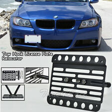 For 07-10 BMW 3-Series E92/E93 Front Tow Hook License Plate Bracket Relocator