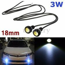 2x 18mm LED SMD Eagle Eye License Plate Screw Bolt Light Fog Driving Lamp White