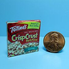 Dollhouse Miniature Replica Box of Totino's Party Pizza for the Freezer ~ G058