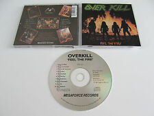 OVERKILL Feel the Fire CD 1985 MEGA RARE ORIGINAL 1st PRESS USA on MEGAFORCE!!!