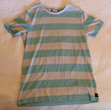RIP CURL BURN OUT STRIPES STRIPED T-SHIRT MENS UNISEX TEE TSHIRT CLOTHING TOP M