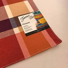 Fiestaware Soiree Plaid Scarlet Place Mat - Fiesta Placemat Table Linens NWT