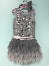 Girl Tween Size 12 Biscotti By Kate Mack Silver Sequin Party Holiday Dress $108