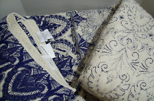 Pottery Barn Blue Ivory Multi Colors Keller Cotton King Quilt New