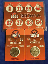 Cleveland Browns Coin Lot of 2 w/ Collectors Board - Couch - Detmer - NFL