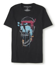 Aeropostale Men's Shirt Screaming Skull Graphic Tee Aero Medium