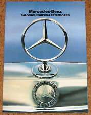 1982 Mercedes brochure inc 500SL, 280TE, 230CE, 380SEL, 500SEC, 300gd MINT