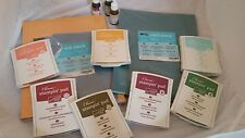 "STAMPIN' UP! CLASSIC INK PAD LINEN ""IN COLORS"" USED PLUS PAPER & 3 INK REFILLS"