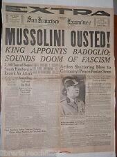 Caduta di Mussolini Alleati occupano Trapani Bombe Napoli Salerno Badoglio di e