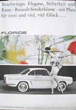 Originalwerbung Reklame 1960 Automobiles Renault Floride Rückseite Service Solex