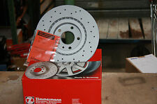 Zimmermann Perforated brake discs Audi A3 Quattro und VW Golf 4motion rear
