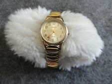 Carriage Quartz Ladies Water Resistant Watch with a Stretch Band
