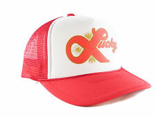 Lucky Lager beer hat Trucker Hat mesh hat snapback hat red new adjustable