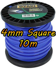 10m DR Strimmer Cord Line Wire String Nylon 4mm Square Petrol TRIMMER HEAVY DUTY