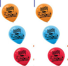 Hot Wheels Wild Racer Latex Balloons 6ct ~ Birthday Decorations Party Supplies