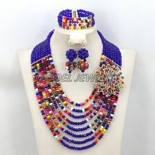Best Selling Nigerian Crystal Beads Necklace Bracelet Earrings African Jewelry
