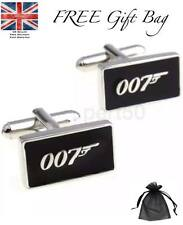 Men's Black 007 Bond Cufflinks Birthday Present Dad Father's Day Spectre James