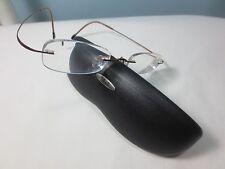 Used SILHOUETTE Eyeglasses Frame Rimless M 7475 6069