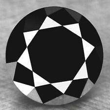1.00 ct NATURAL LOOSE DIAMOND JET BLACK OPAQUE ROUND BRILLIANT CUT DIAMOND NR00