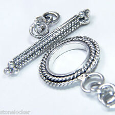 TG27 Toggle 34mm SILBER 925 Verschluss f. Kette u. Armband silver clasp 34mm