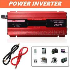 Car Inverter 2000W DC 12V AC 220V Vehicle Power Supply Adapter Converter Charger