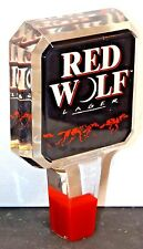 **COORS** Red Wolf Lager- Draft Beer Keg Tap Handle-Bar Pub Knob Tapper-Lot 196