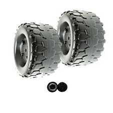 Power Wheels W4473 Barbie Jammin' Jeep Wrangler Replacement Wheel- 2 Pack