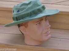 Boonie Hat Med Vietnam Repro Replica Rip Stop OD Army Military USMC with P38