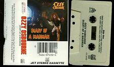 Ozzy Osbourne Diary of a Madman original Jet White Tape USA Cassette