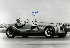 Stirling Moss Hand Signed Mercedes-Benz F1 12x8 Photo.