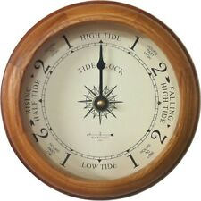 "6"" OAK TIDE CLOCK BY WEST & CO."