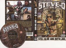 STEVE-O SIGNED 'VOL. III OUT ON BAIL' DVD COVER/SLEEVE+COA **PROOF**