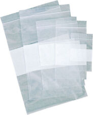 1000 ~ 2 Mil 3x4 Zip Reclosable Lock Seal Top Clear Poly Bags W/ Writing Block