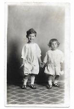 CUTE BROTHER AND SISTER REAL PHOTO POSTCARD,GIRLS EYES ARE DARLING,1904-1918